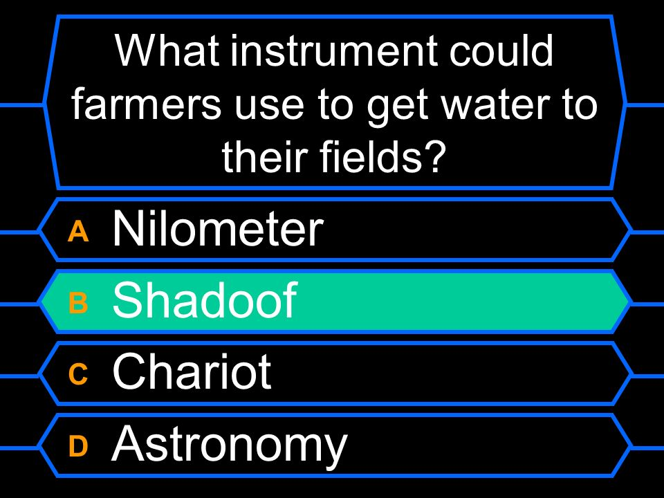 What instrument could farmers use to get water to their fields.