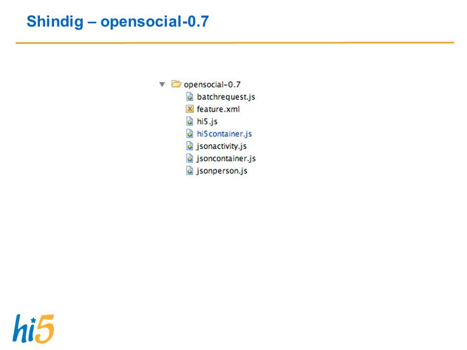 Shindig – opensocial-0.7