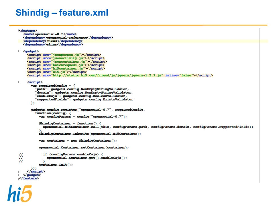Shindig – feature.xml
