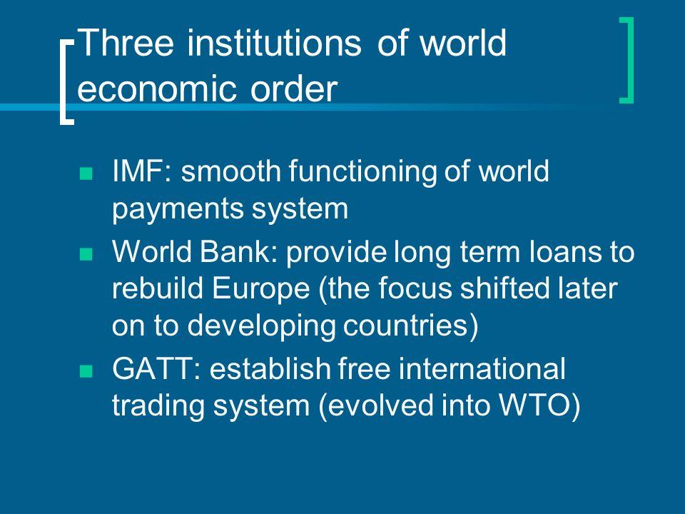 Elements of an international monetary system 1.Supply of international liquidity 2.