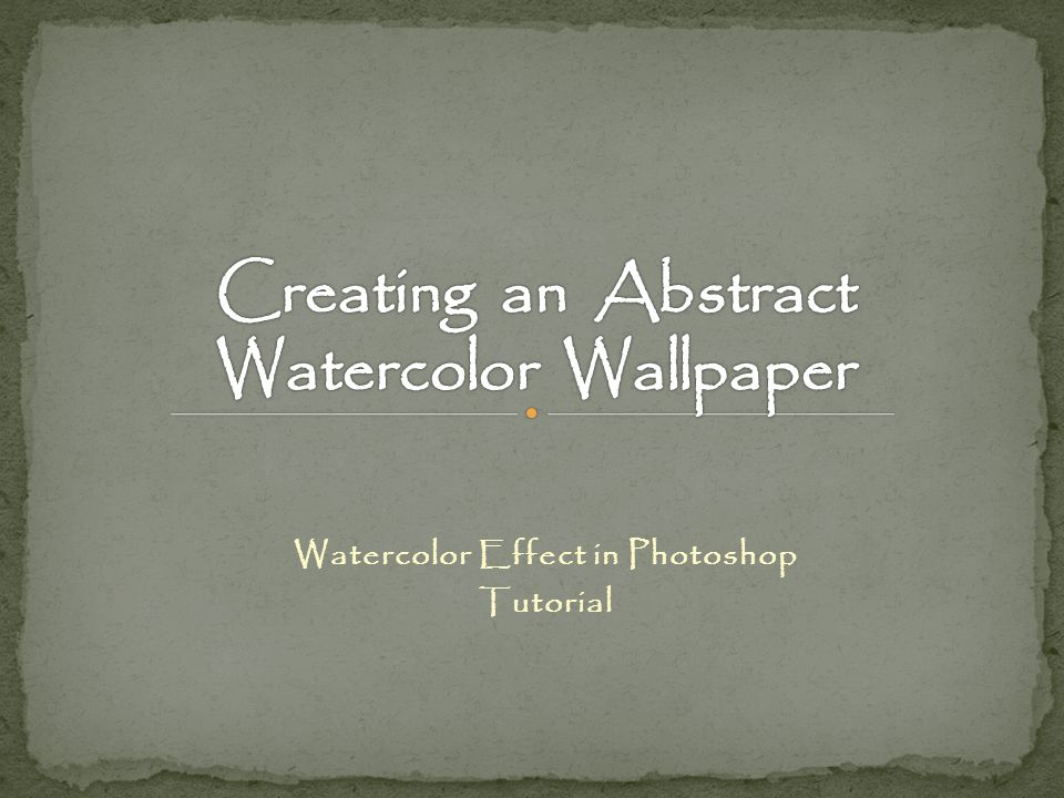 Watercolor Effect in Photoshop Tutorial