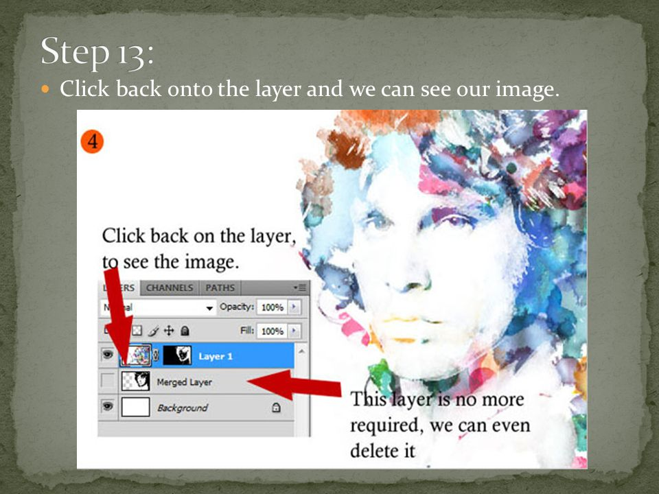 Click back onto the layer and we can see our image.