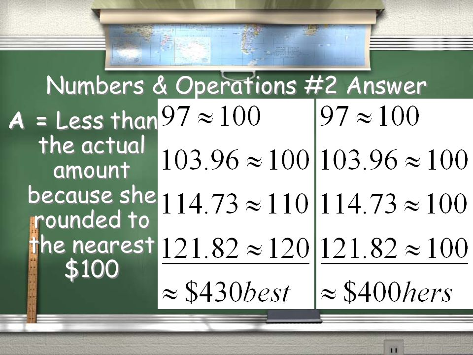 Numbers & Operations #2 Question Ms.