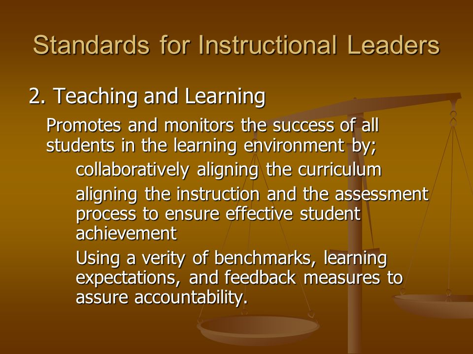 Standards for Instructional Leaders 3.