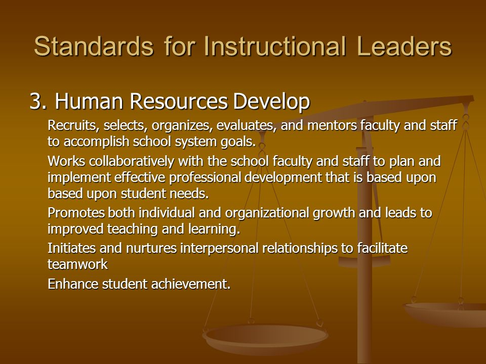 Standards for Instructional Leaders 4.