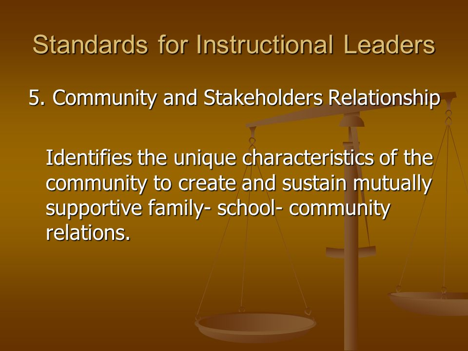 Standards for Instructional Leaders 6.