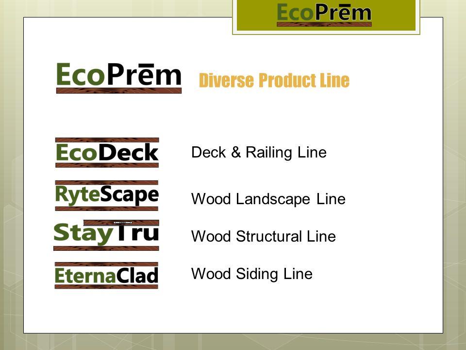 Diverse Product Line Deck & Railing Line Wood Landscape Line Wood Structural Line Wood Siding Line