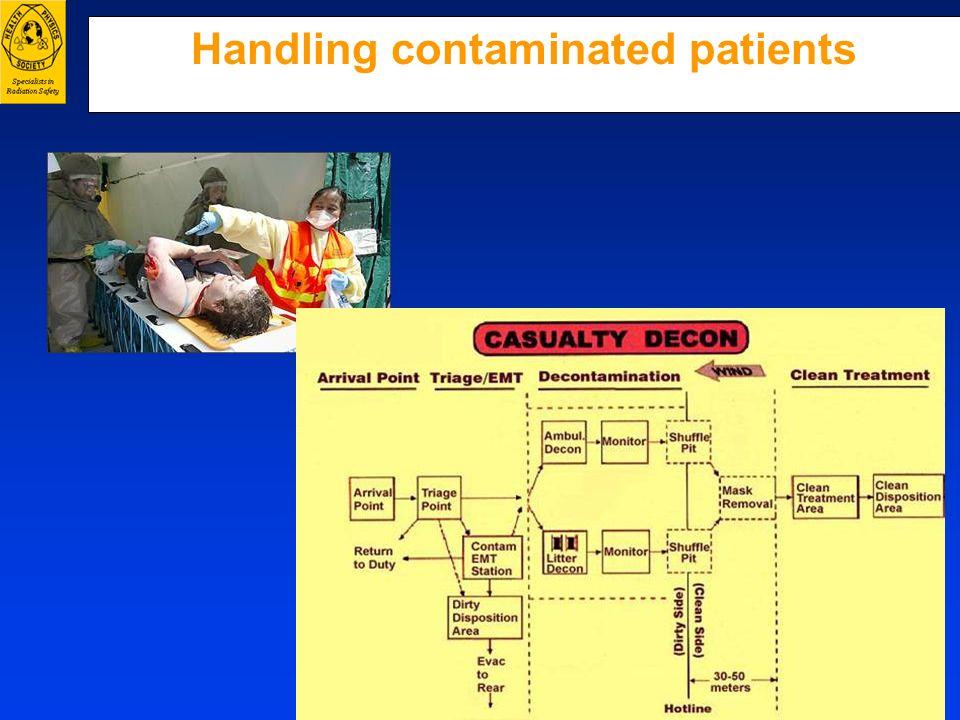 Handling contaminated patients