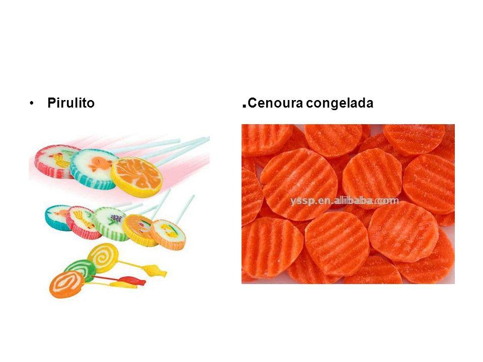 Pirulito. Cenoura congelada