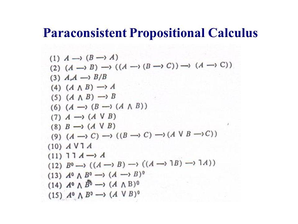 Paraconsistent Propositional Calculus