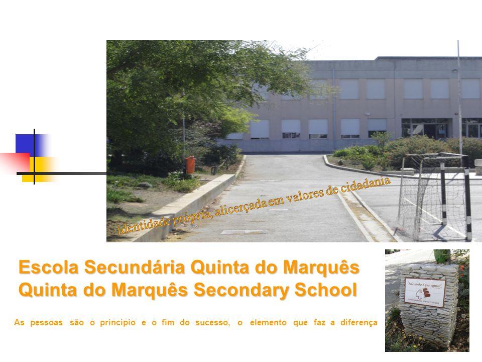 Escola Secundária Quinta do Marquês Quinta do Marquês Secondary School As pessoas são o princípio e o fim do sucesso, o elemento que faz a diferença