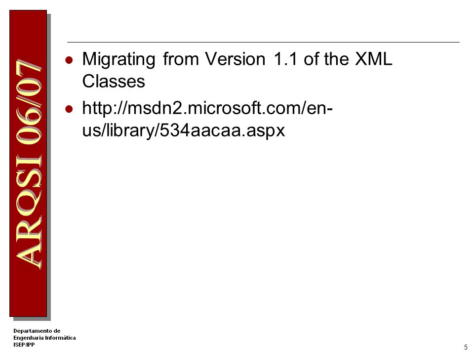 4 Process XML Data In-Memory Discusses the two models for processing XML data. The XmlDocument class, and its associated classes, is based on the W3C