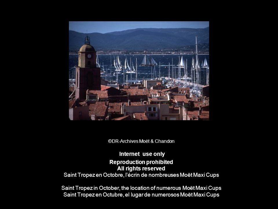 ©DR-Archives Moët & Chandon Internet use only Reproduction prohibited All rights reserved Saint Tropez en Octobre, lécrin de nombreuses Moët Maxi Cups