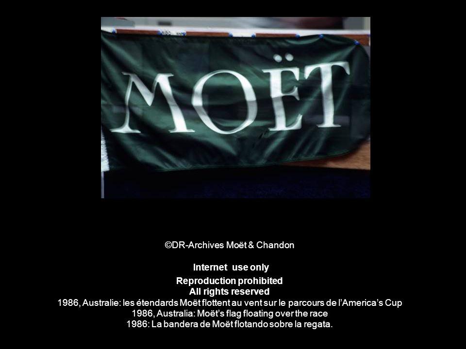 ©DR-Archives Moët & Chandon Internet use only Reproduction prohibited All rights reserved 1986, Australie: les étendards Moët flottent au vent sur le
