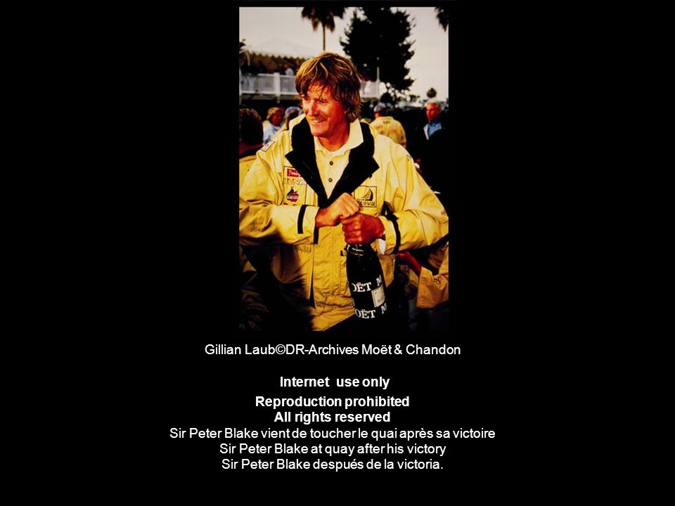 Gillian Laub©DR-Archives Moët & Chandon Internet use only Reproduction prohibited All rights reserved Sir Peter Blake vient de toucher le quai après s