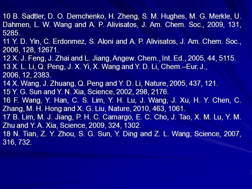 10 B. Sadtler, D. O. Demchenko, H. Zheng, S. M.