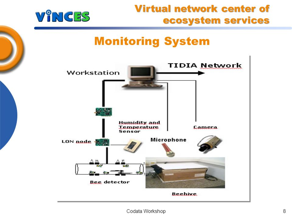 Codata Workshop8 Monitoring System Virtual network center of ecosystem services