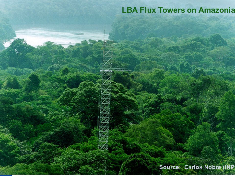 LBA Flux Towers on Amazonia Source: Carlos Nobre (INPE)