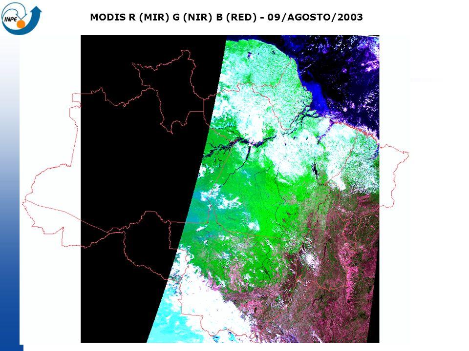 MODIS R (MIR) G (NIR) B (RED) - 09/AGOSTO/2003