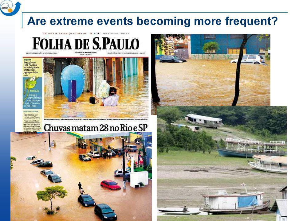 Are extreme events becoming more frequent?