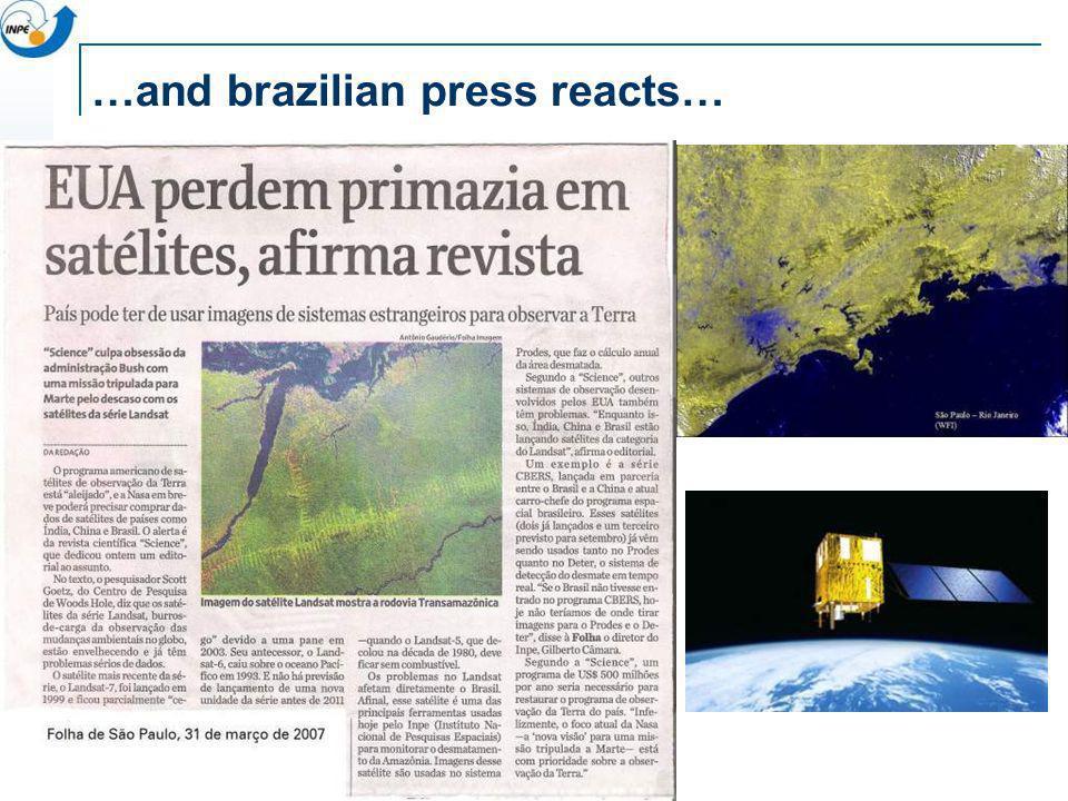 …and brazilian press reacts…