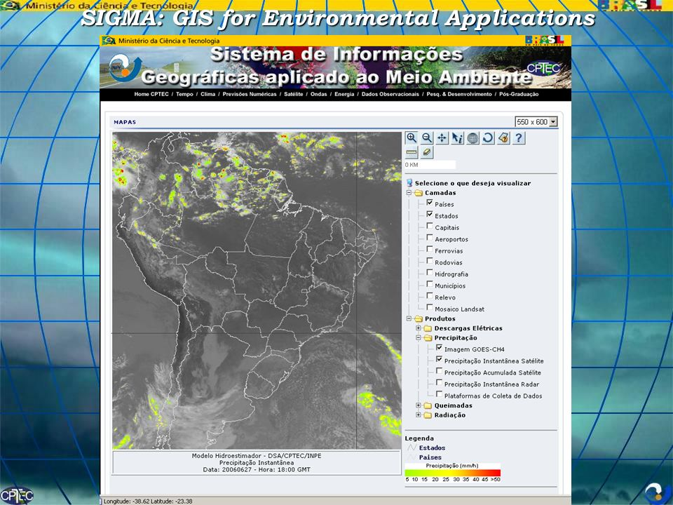 SIGMA: GIS for Environmental Applications