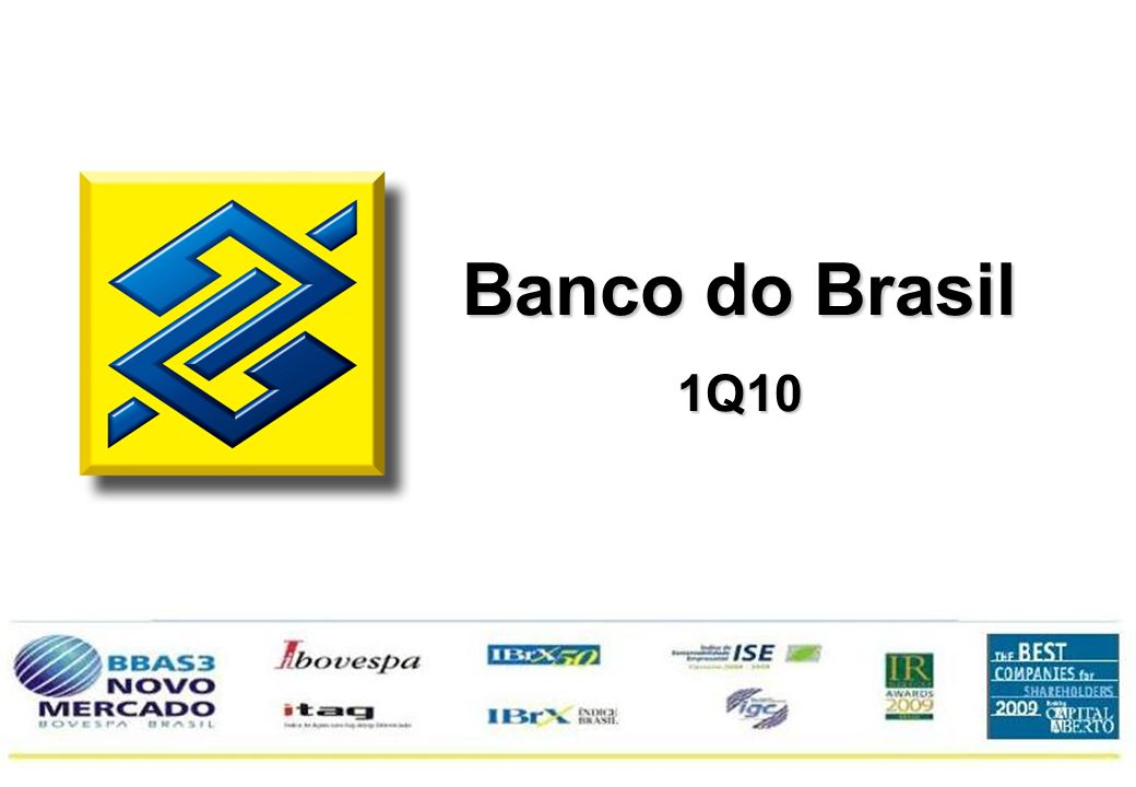 1 Banco do Brasil 1Q10