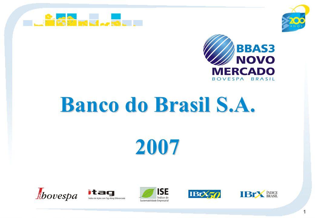 12 Profitability 3.0 2004 4.2 2005 6.0 2006 5.1 2007 26.0 2004 33.7 2005 52.8 2006 75.3 2007 Net Income - R$ billion ROE - % Capitalização de Mercado - R$ bilhões Dividends / Interest on Own Capital 17.6 2003 0.7 1.0 1.5 2.4 2.0 2.4 2003 22.3 26.8 32.1 23.0 22.5