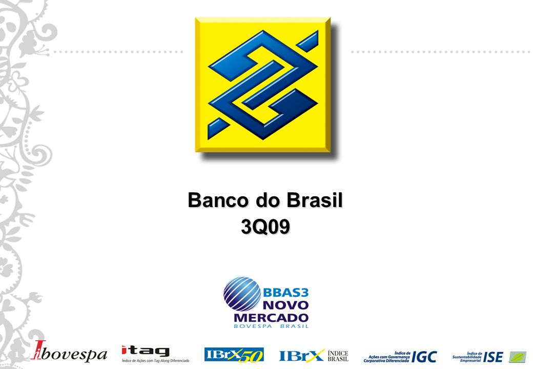 2 2 Disclaimer This presentation may include references and statements, planned synergies, increasing estimates, projections of results and future strategy for Banco do Brasil, its Associated and Affiliated Companies and Subsidiaries.