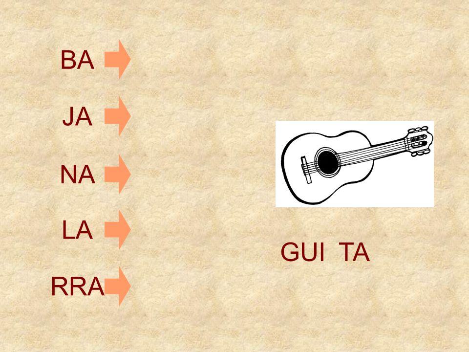GUI PA TA JA CA FA