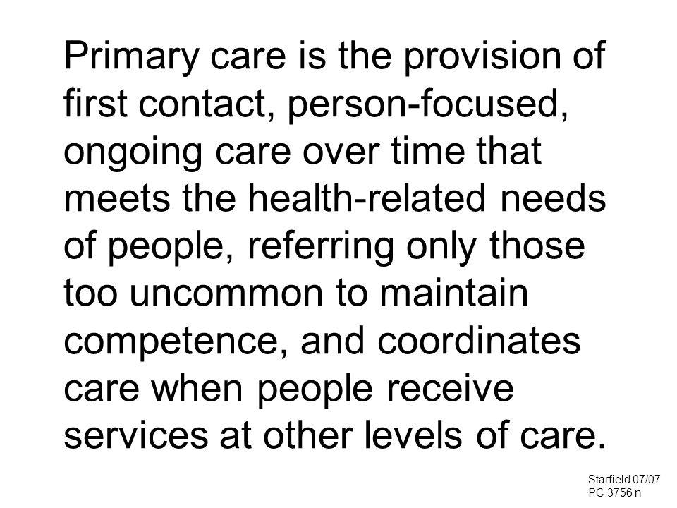 Primary Care Score vs.