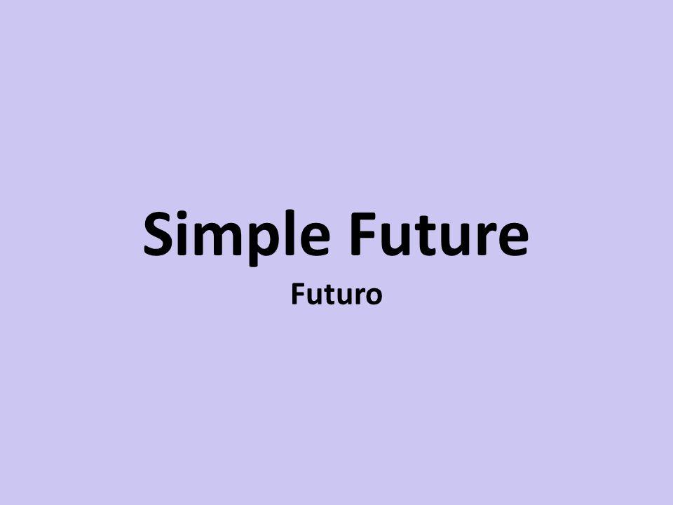 Futuro Afirmativa – will + verbo I will sing next week.