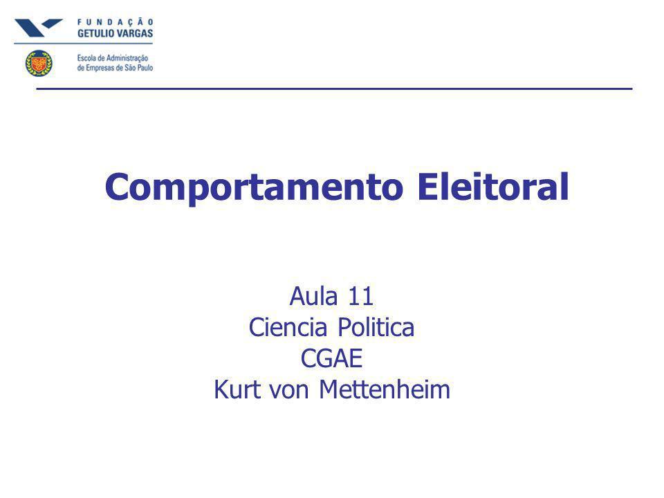 Comportamento Eleitoral Aula 11 Ciencia Politica CGAE Kurt von Mettenheim