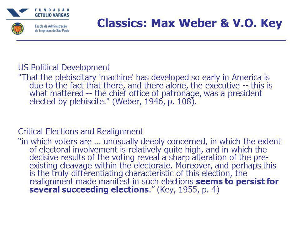 Classics: Max Weber & V.O.