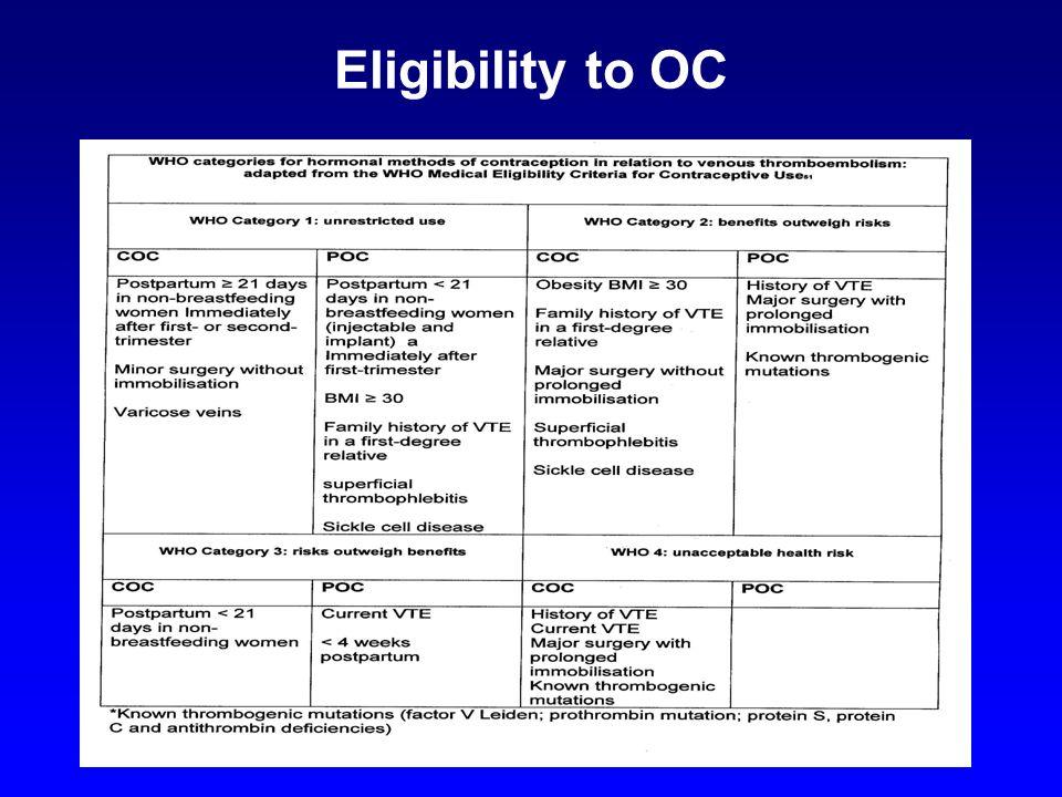 Eligibility to OC.
