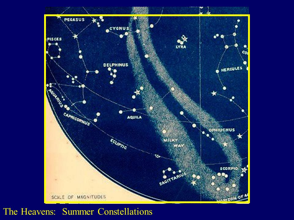 The Heavens: Summer Constellations http://www.astromax.com/con-page/images/map-2.jpg