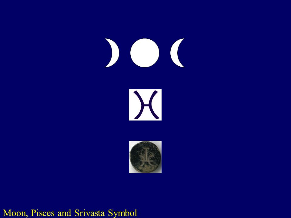 Moon, Pisces and Srivasta Symbol
