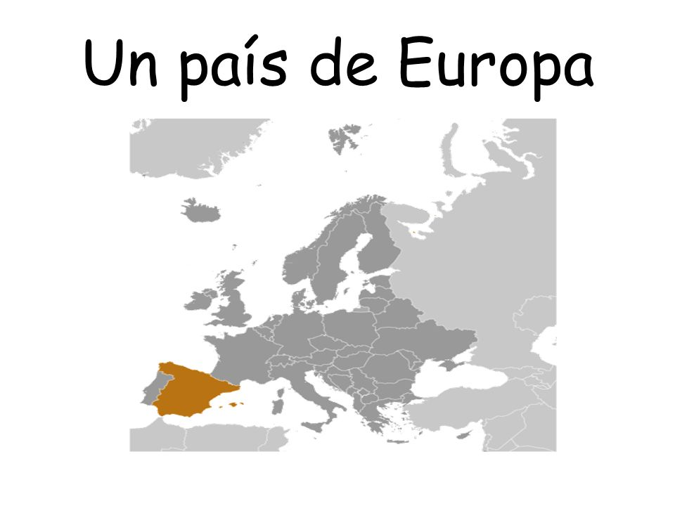 La Península Ibérica The Iberian Peninsula: Spain and Portugal are the only 2 countries that occupy the Iberian Peninsula.