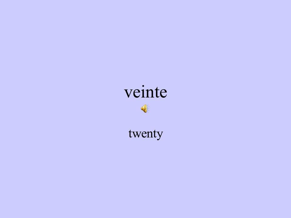 diecinueve nineteen