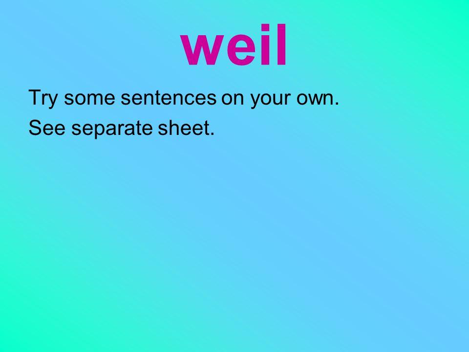 When using the WELI you always kick the verb to the end!! Chemie gefällt mir nicht. Es ist langweilig. Chemie gefällt mir nicht, weil es langweilig is