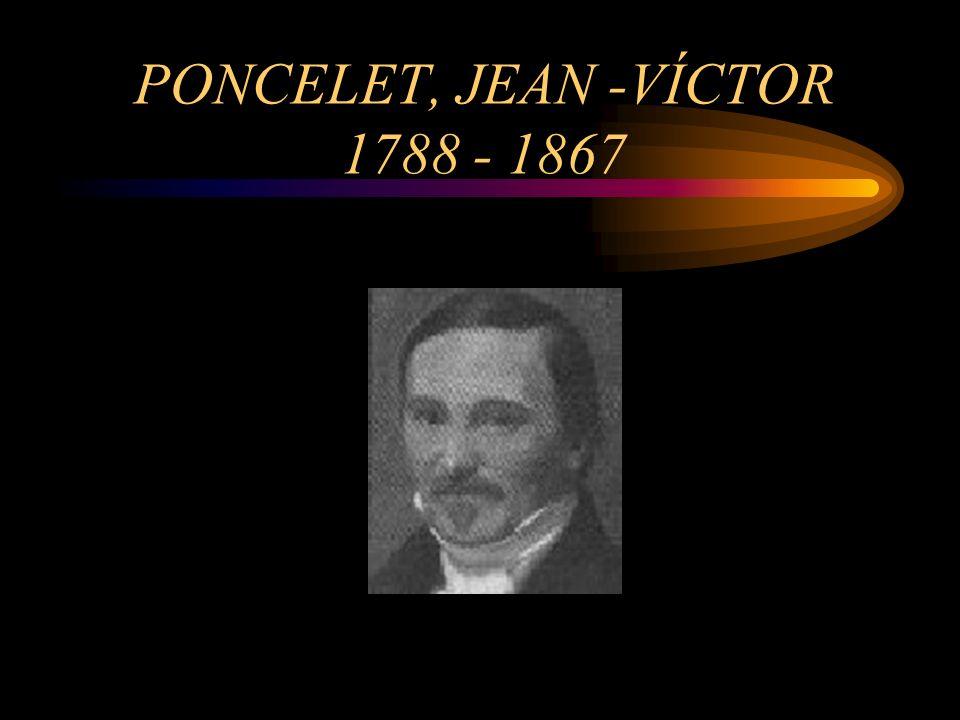 PONCELET, JEAN -VÍCTOR 1788 - 1867