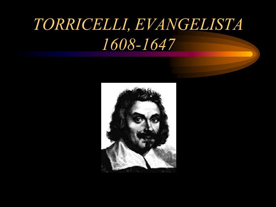 TORRICELLI, EVANGELISTA 1608-1647