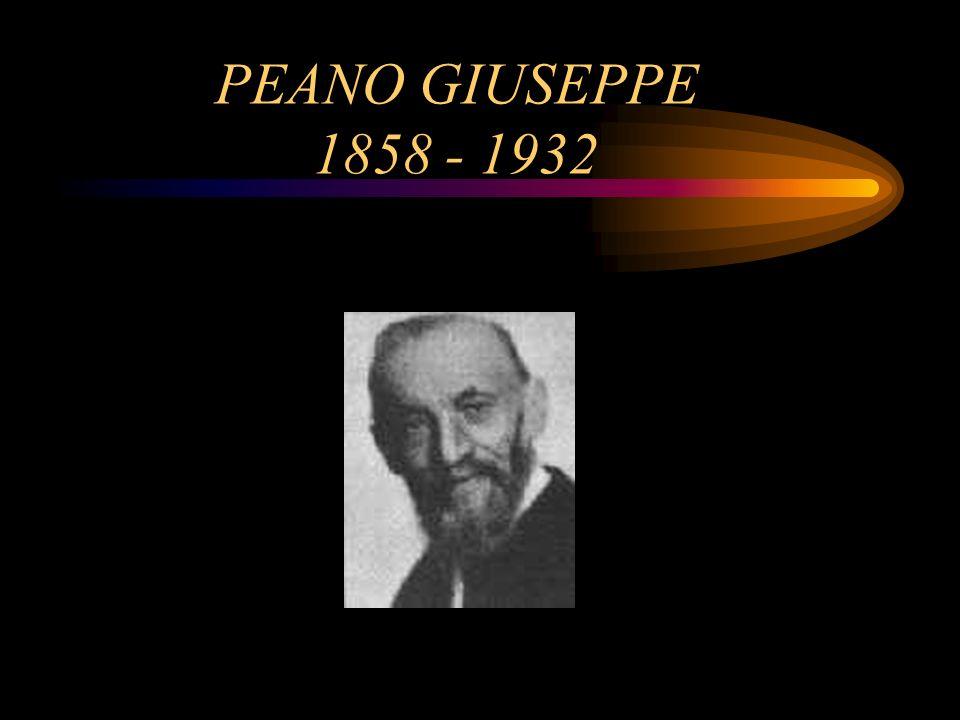PEANO GIUSEPPE 1858 - 1932