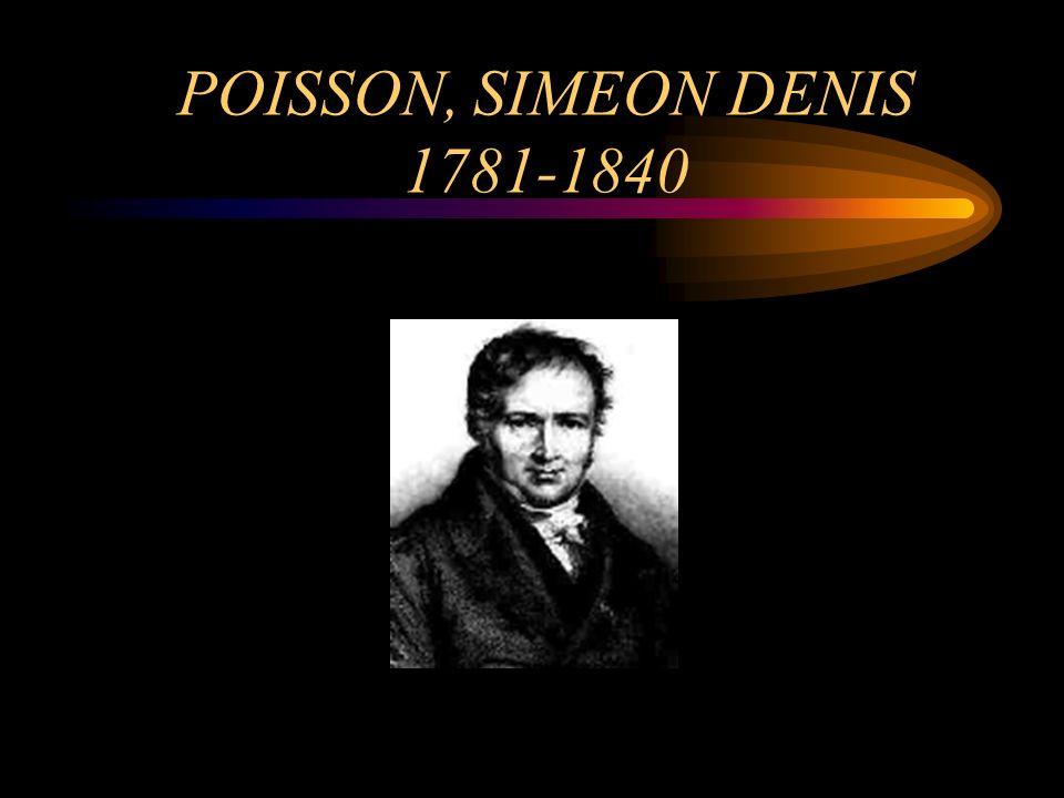POISSON, SIMEON DENIS 1781-1840