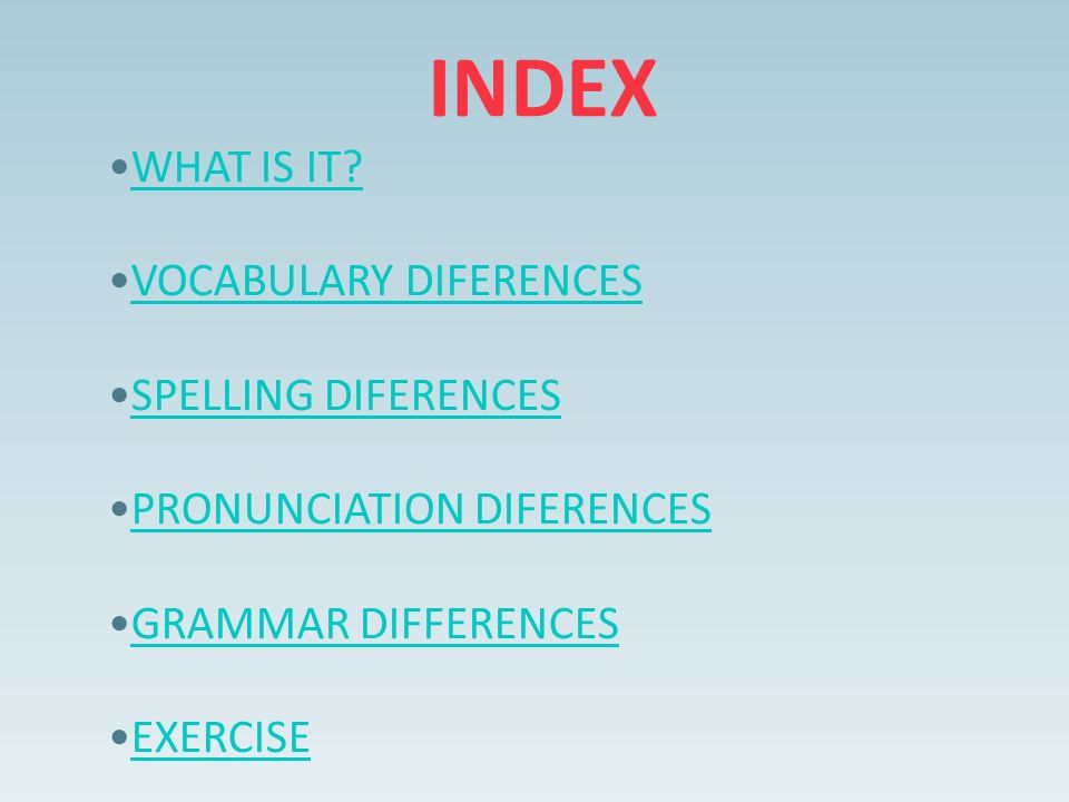 INDEX WHAT IS IT.