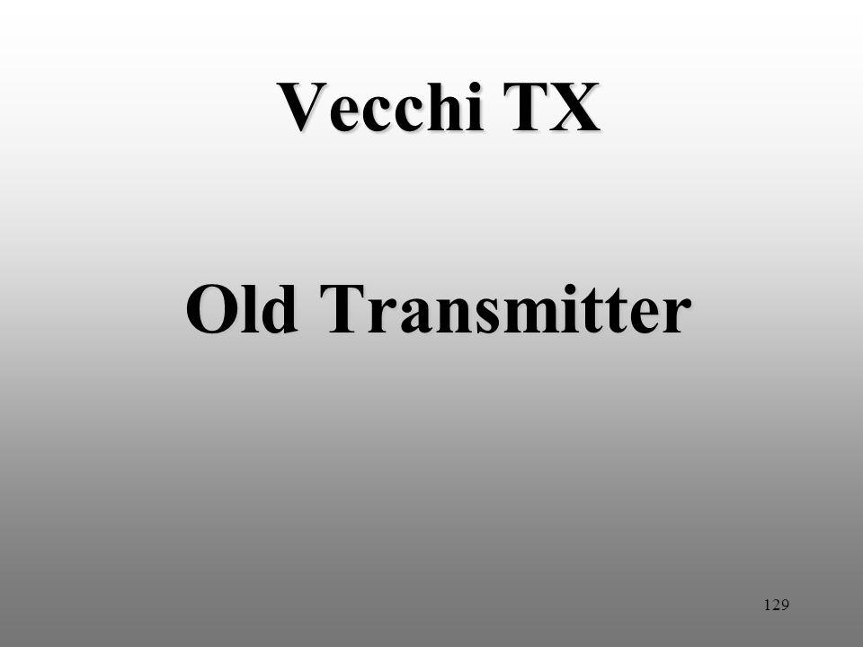129 Vecchi TX Old Transmitter