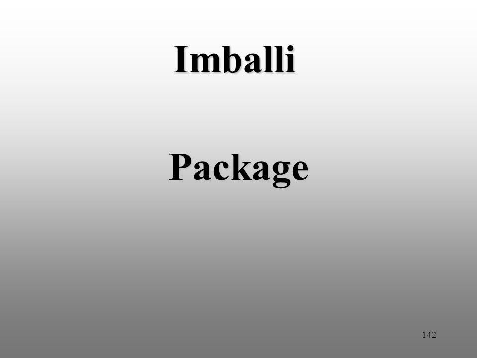 142 Imballi Package