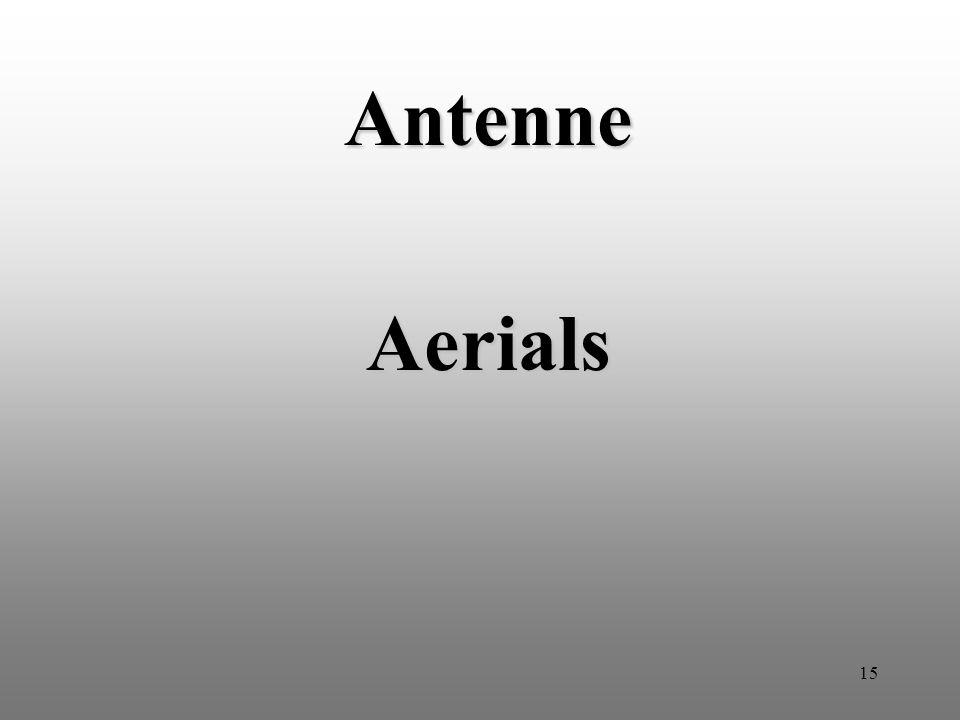 15 Antenne Aerials