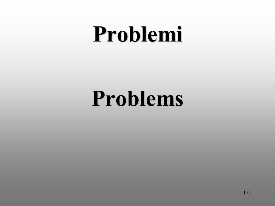 152 Problemi Problems