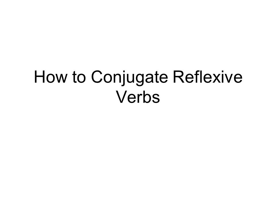 Conjugating reflexive verbs is really not much different than the conjugating you have been doing up to this point.